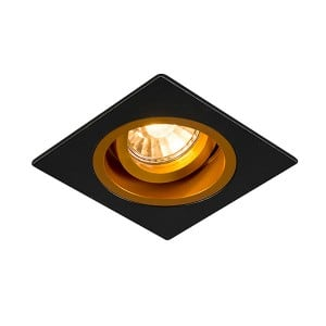 LAMPA WEWNĘTRZNA (SPOT) ZUMA LINE CHUCK DL SQUARE 92706 (black/gold) small 0
