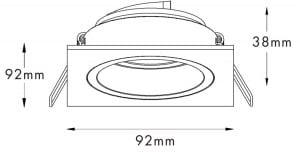 LAMPA WEWNĘTRZNA (SPOT) ZUMA LINE CHUCK DL SQUARE 92703-GD ZŁOTY/GOLD small 2