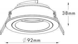 LAMPA WEWNĘTRZNA (SPOT) ZUMA LINE CHUCK DL ROUND SPOT 92699 GOLD small 1