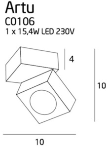 Artu plafon C0106 Max Light small 1