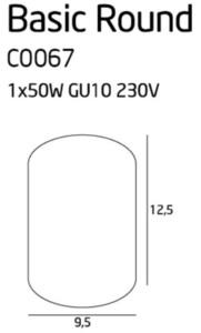 Biała lampa nasufitowa walec C0067 plafon small 1