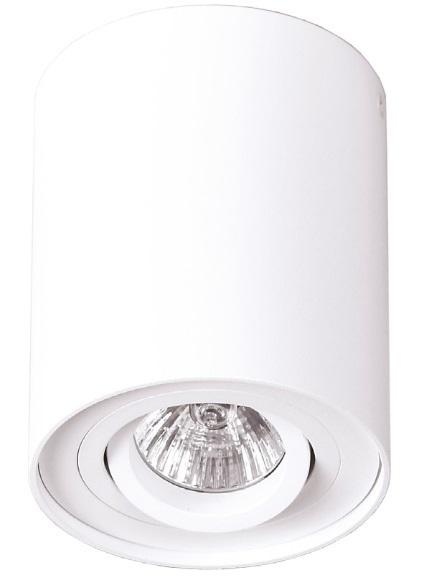 Biała lampa nasufitowa walec C0067 plafon