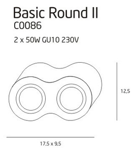 BASIC ROUND II BK plafon C0086 Max Light small 2