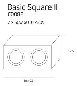 BASIC SQUARE II WH C0088 plafon Max Light small 1