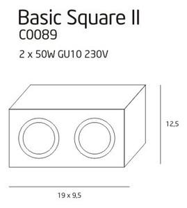 BASIC SQUARE II BK C0089 Plafon Max Light small 2