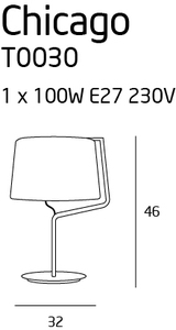 CHICAGO lampa stołowa chrom T0030 Max Light small 1