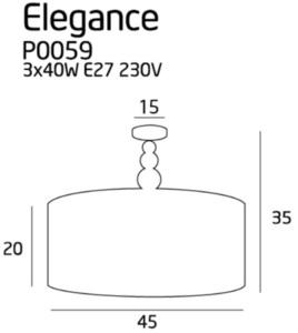 Elegance P0059 Plafon Max Light small 1