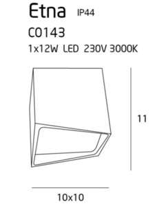 Etna C0143 lampa sufitowa biała IP44 Max Light small 2