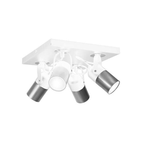 Biała Lampa Sufitowa Wilson White 4x Gu10