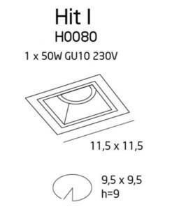 Hit I oprawa podtynkowa biała H0080 Max Light small 2