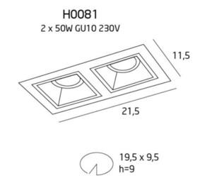Hit II oprawa podtynkowa biała H0081 Max Light small 2
