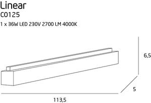 LINEAR lampa sufitowa duża C0125 Max Light small 2