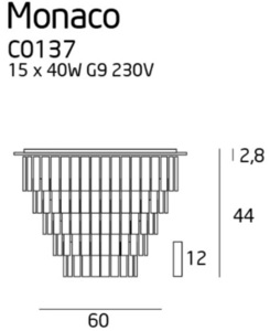 Monaco plafon C0137 Max Light small 1
