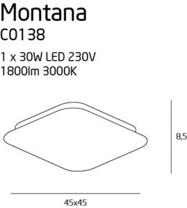 Montana C0138 plafon duży Max Light small 3