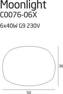 Moonlight plafon grey C0076-06X Max Light small 1
