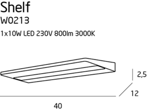Shelf kinkiet W0213 Max Light small 3
