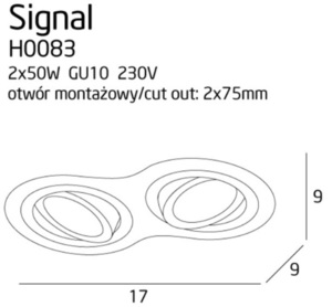 Signal II oprawa podtynkowa biała H0083 Max Light small 3