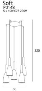 SOFT lampa wisząca czarna P0148 Max Light small 2