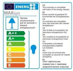 SOFT lampa wisząca czarna P0148 Max Light small 3