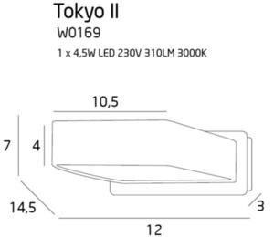 Tokyo II kinkiet czarny W0169 Max Light small 2