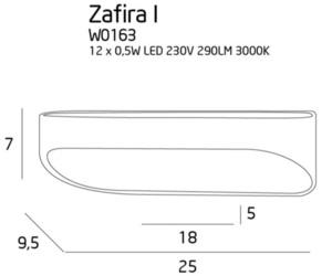 Zafira I kinkiet W0163 Max Light small 2