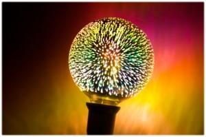 Dekoracyjna żarówka Luna Fire Globe LED Fajerwerki 3D small 1