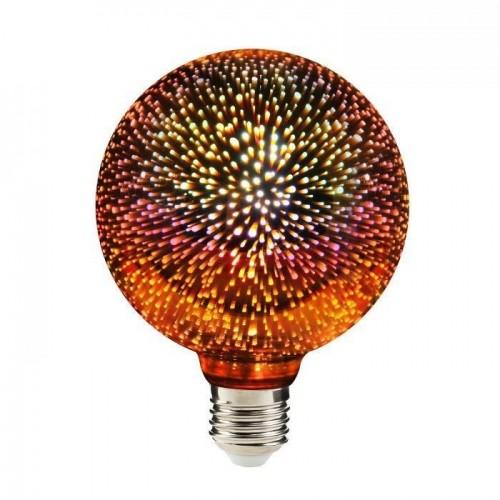 Dekoracyjna żarówka Luna Fire Globe LED Fajerwerki 3D