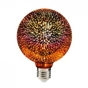Dekoracyjna żarówka Luna Fire Globe LED Fajerwerki 3D small 0