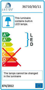 Lucide DUAL LED 36710/30/11 small 2