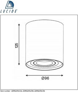 Lucide TUBE 22952/01/30 small 1