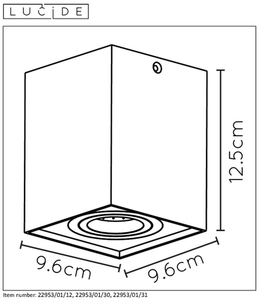 Lucide TUBE 22953/01/12 small 1
