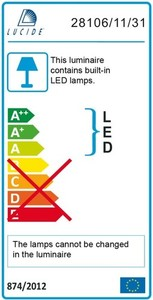 Lucide BRICE-LED 28106/24/31 small 3
