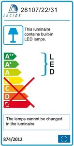 Lucide BRICE-LED 28107/22/31 small 2