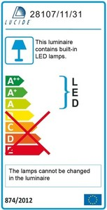 Lucide BRICE-LED 28107/22/31 small 3