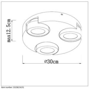 Lucide MITRAX-LED 33158/14/31 small 1