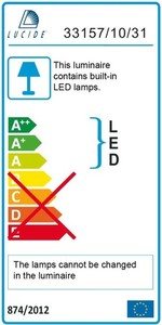Lucide MITRAX-LED 33158/14/31 small 3