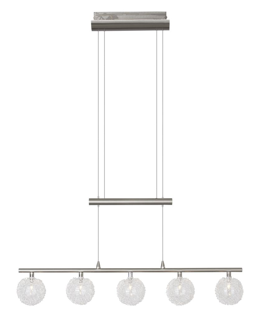 BELIS Satynowa, chromowana lampa wisząca