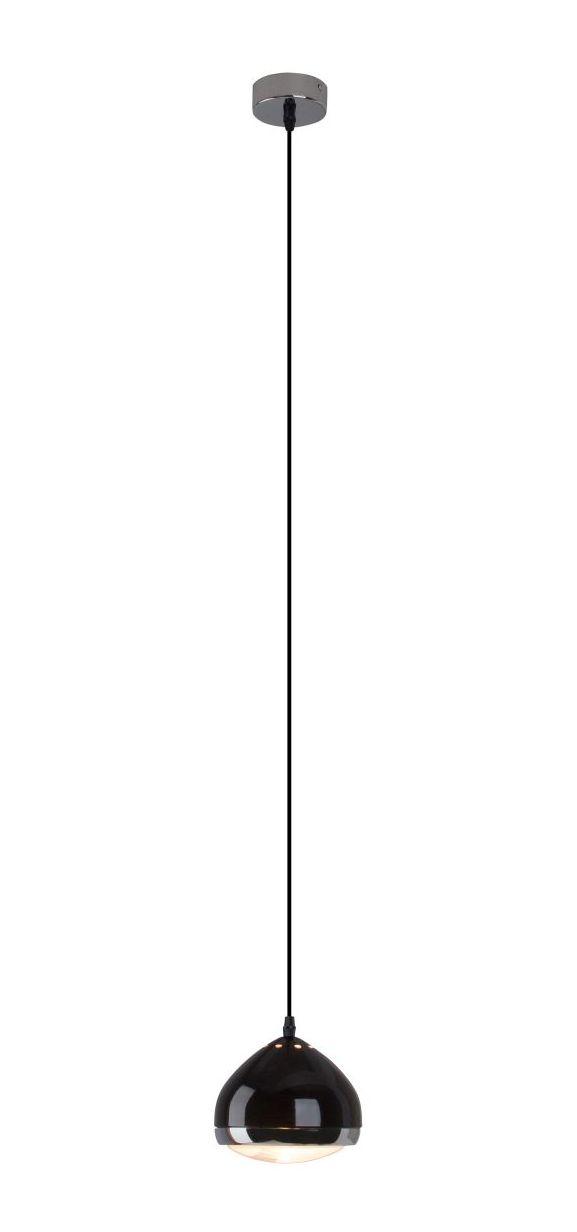 RIDER Czarna, chromowa lampa wisząca