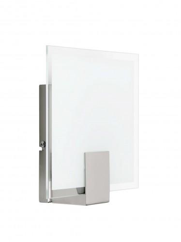 SONIAN Kinkiet biały/chrom (kwadrat)
