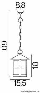 Lampa zewnętrzna wisząca Cordoba K 1018/1/T small 2
