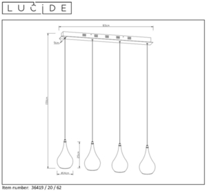 Lucide JARICH LED 36419/20/62 small 1
