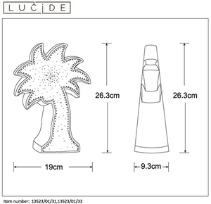 Lucide PALM 13523/01/33 small 1
