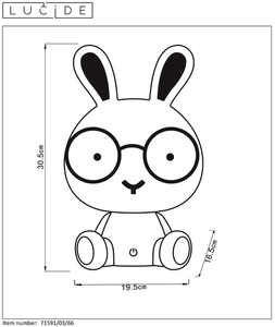 Lucide DODO Rabbit 71591/03/66 small 1
