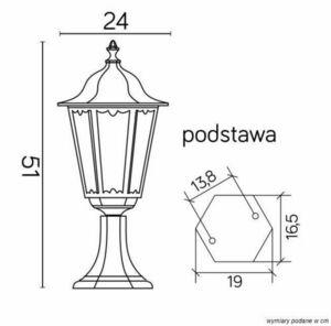 Lampa stojąca Retro Classic K 4011/1 Vintage w kolorze czarnym small 2
