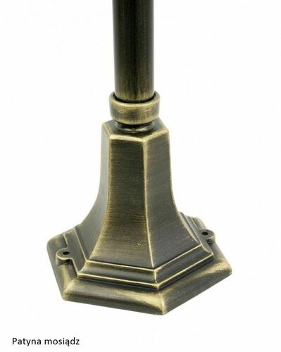 Lampa ogrodowa Retro Classic K 5002/3 (87 cm) Vintage czarna