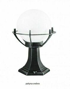 Lampa - kula z koszykiem stojąca ogrodowa (39cm) - 200 K 4011/1/KPO small 2