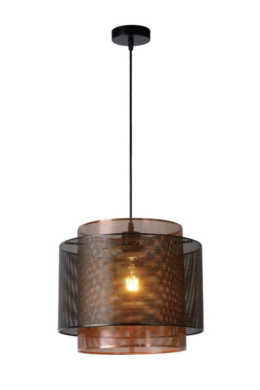 Lampa wisząca ORIGIN czarny metal E27