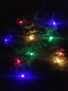 Świecąca Świąteczna girlanda choinkowa LED wielokolorowa 10m 20 żarówek small 1