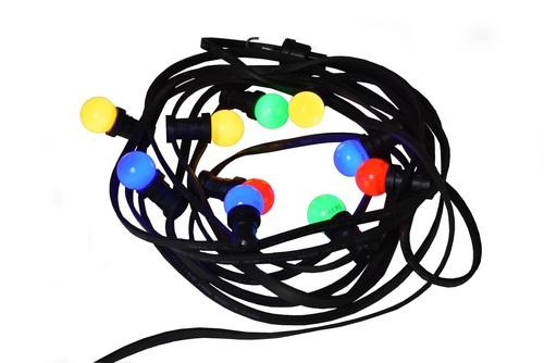 Świecąca Świąteczna girlanda choinkowa 10m 10 wielokolorowych żarówek LED