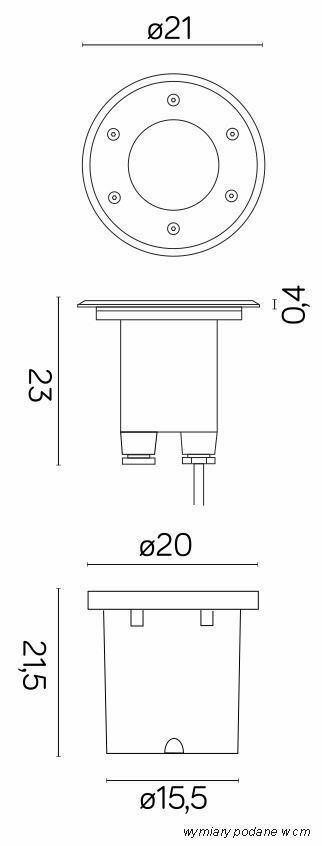 Duża lampa najazdowa Pabla 4031 1,5T nacisku